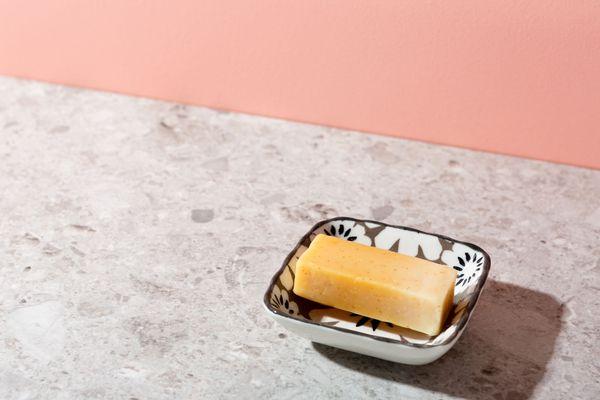 bar soap in a dish