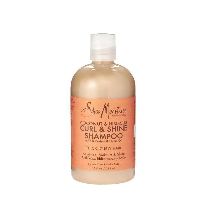 best shampoo for every hair type: Shea Moisture Coconut and Hibiscus Curl & Shine Shampoo