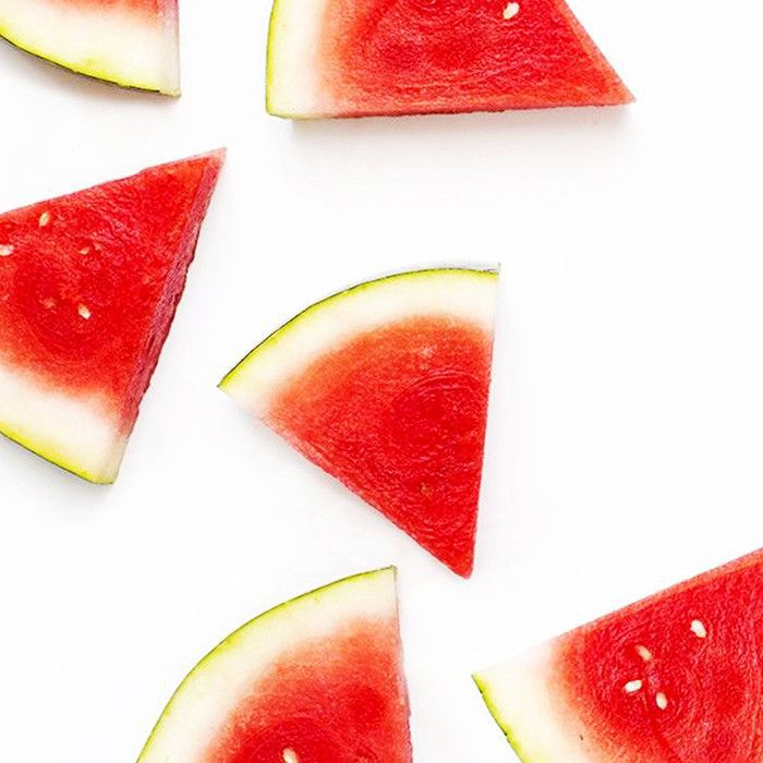 Watermelon slices on a white background