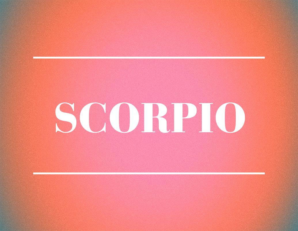 scorpio zodiac sign design