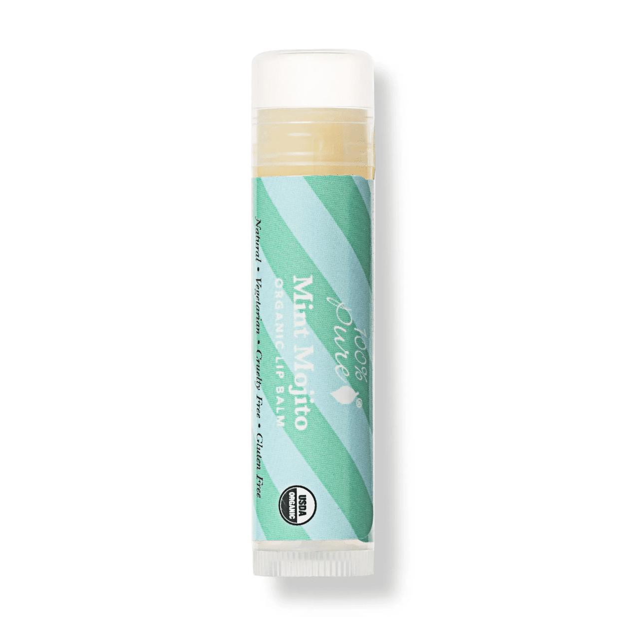 100 percent pure organic mint mojito lip balm