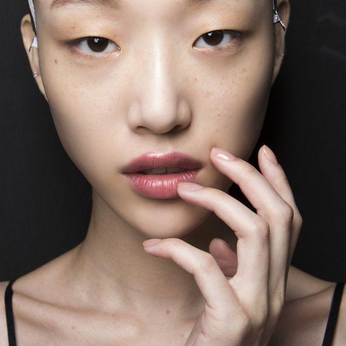 Asian model close-up