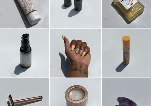 collage grid of different products owned by women of color