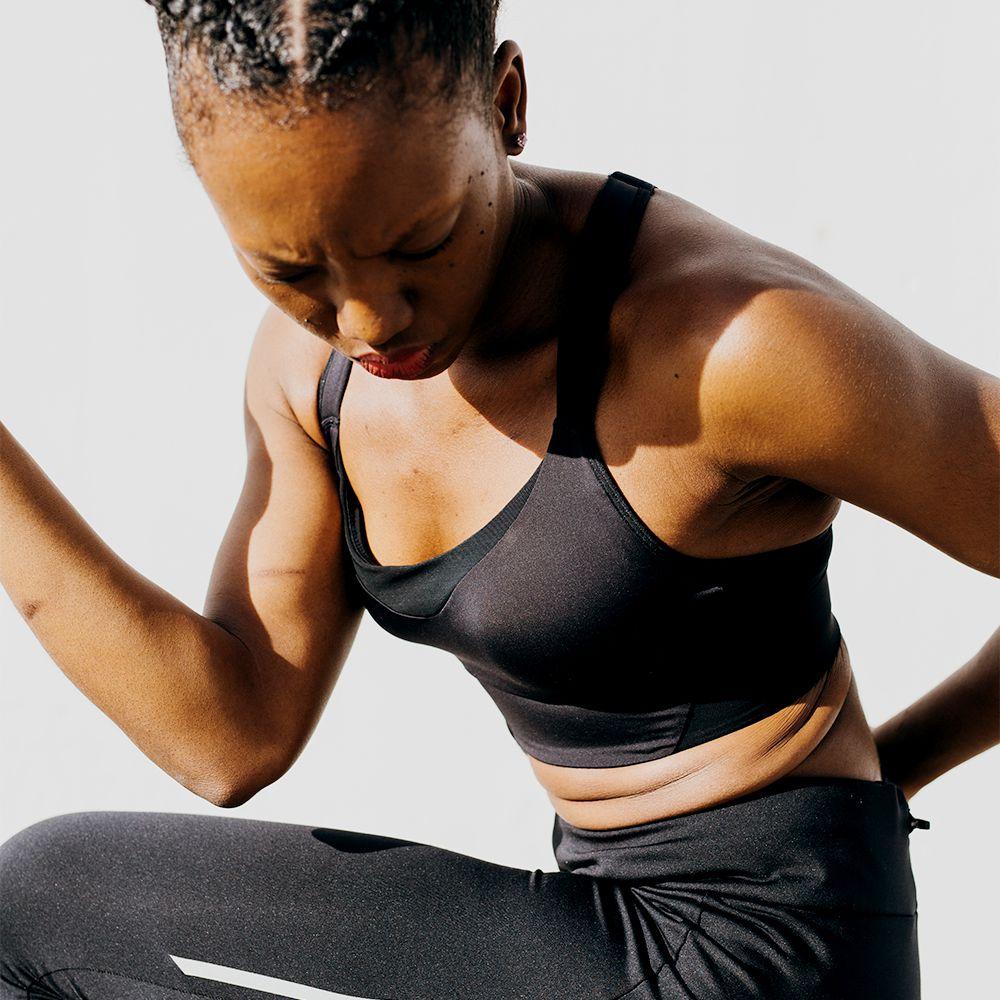 black femme exercising in the sun