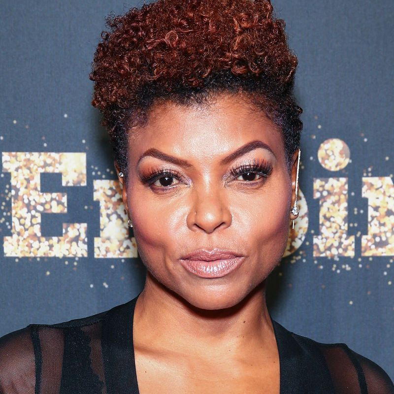 Taraji P. Henson curly pixie with shaved sides