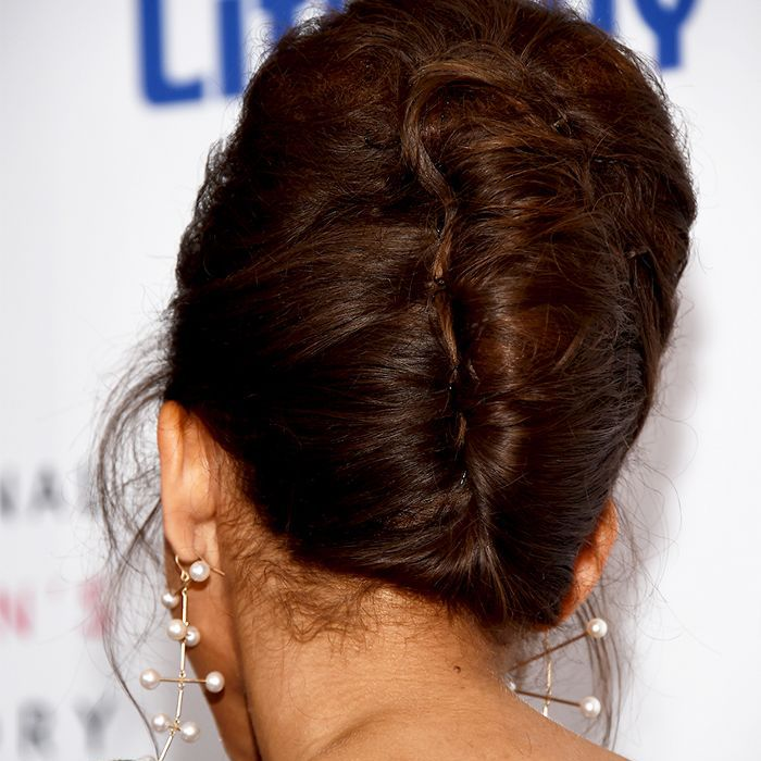 Easy curly hairstyles: French twist