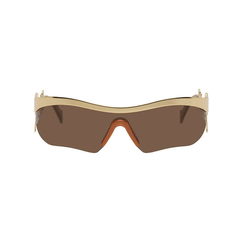 Silver Logo Mask Sunglasses