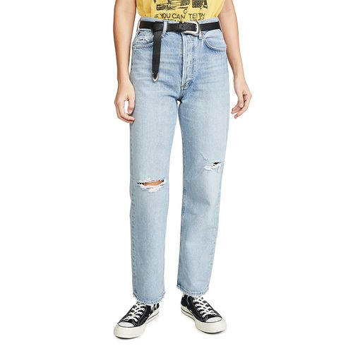 90's Mid Rise Loose Fit Jeans ($198)