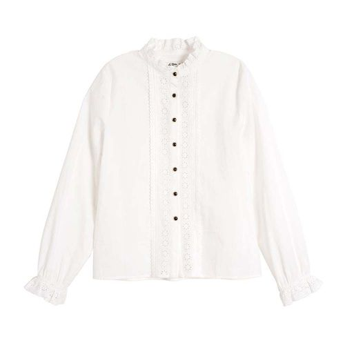 Victoria 100% Cotton Ruffle Mandarin Blouse ($49.99)