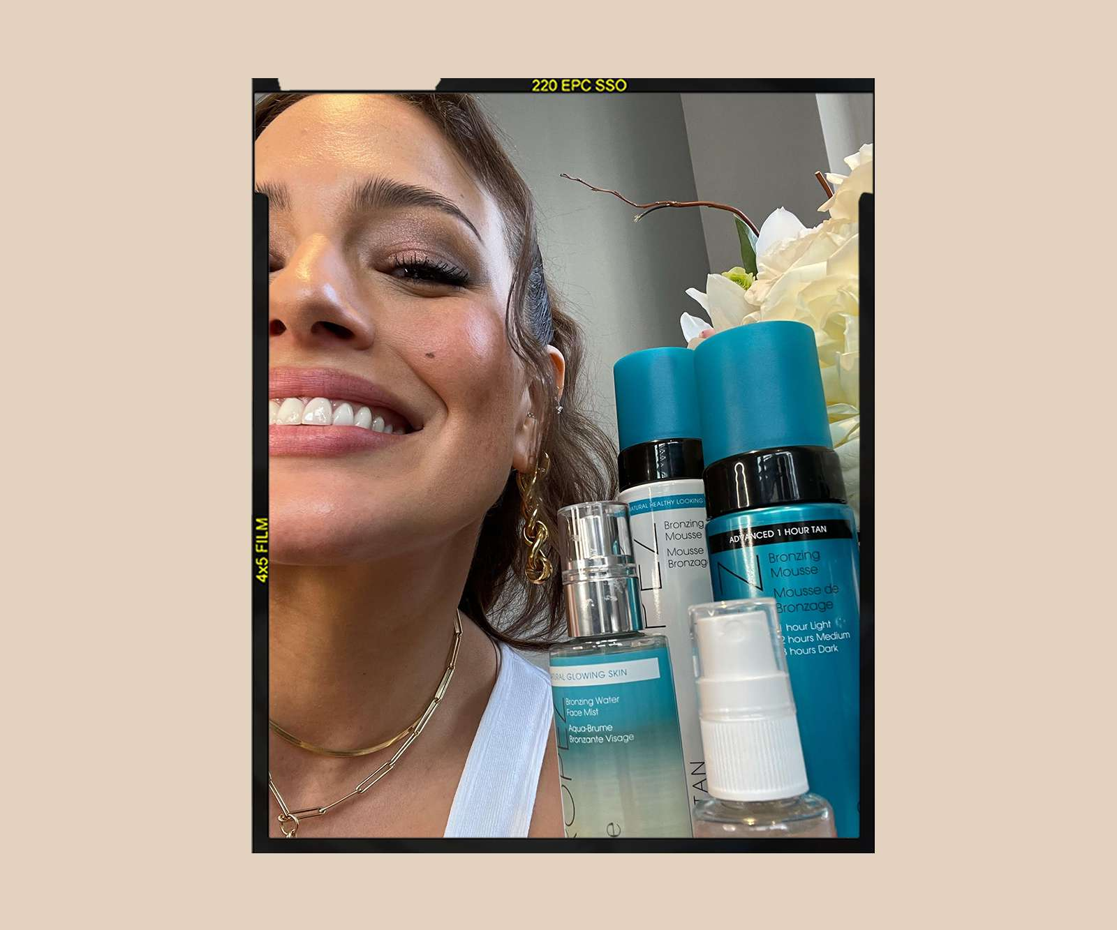 Ashley Graham with St Tropez Products
