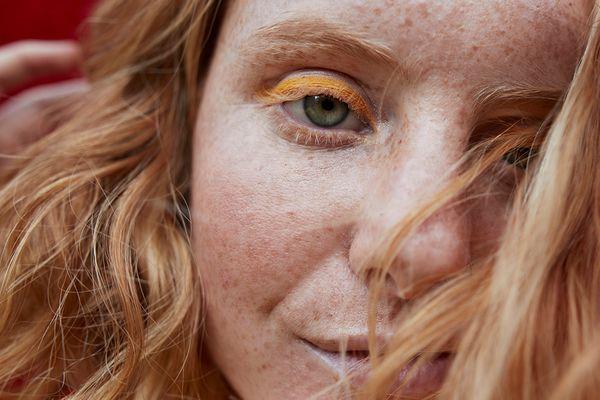 closeup beauty portrait