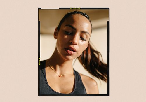 woman sweating from working out