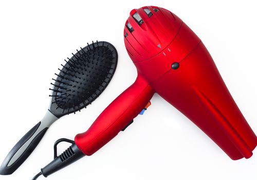 Blow dryer and brush