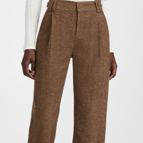 Vince Flannel High Waisted Trousers