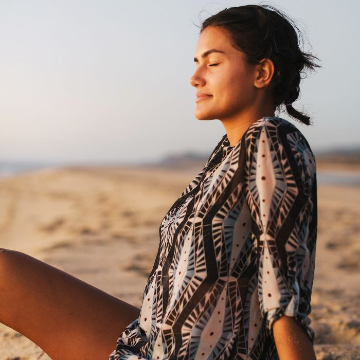 Woman relaxed on a beach