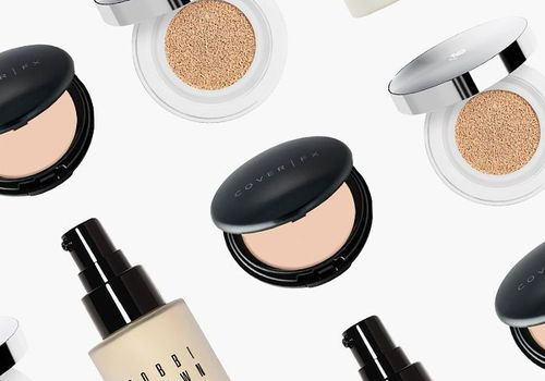 image composition of cover fx, bobbi brown, and lancome products