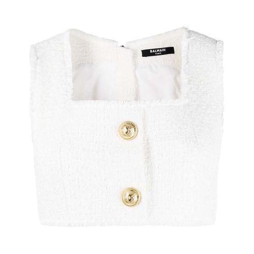 Cropped Tweed Vest ($995)