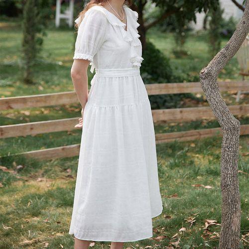 Simple Retro Edana Chiffon Ruffle Maxi Dress