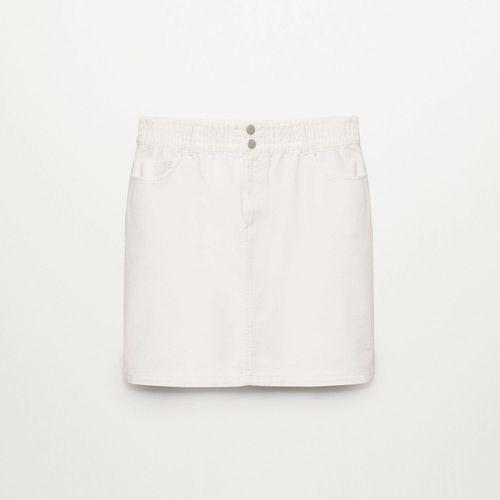 Violeta by Mango Denim Miniskirt with Drawstring