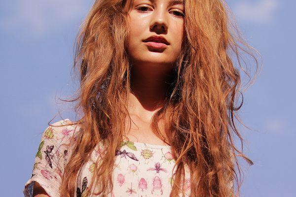 frizzy hair portrait