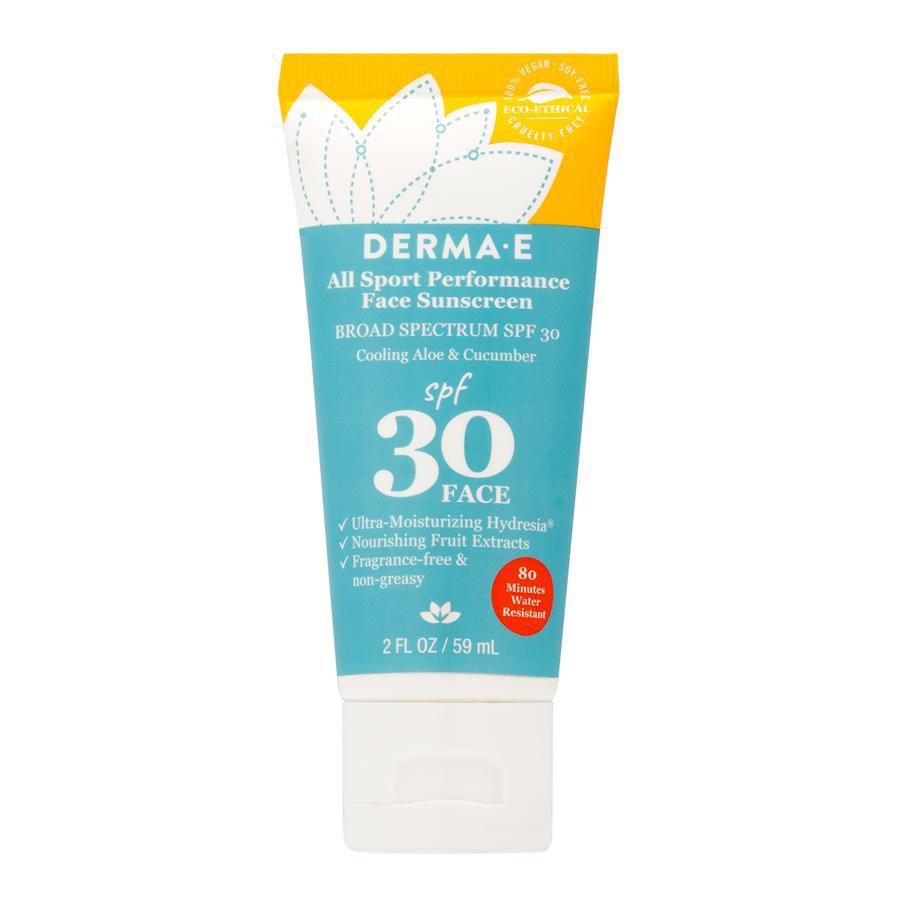 Derma E All Sport Performance Face Sunscreen SPF 30
