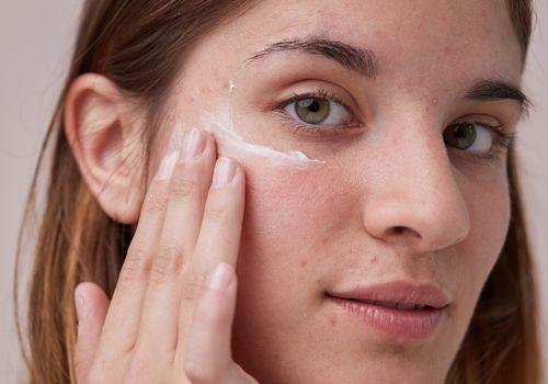 glass skin acne