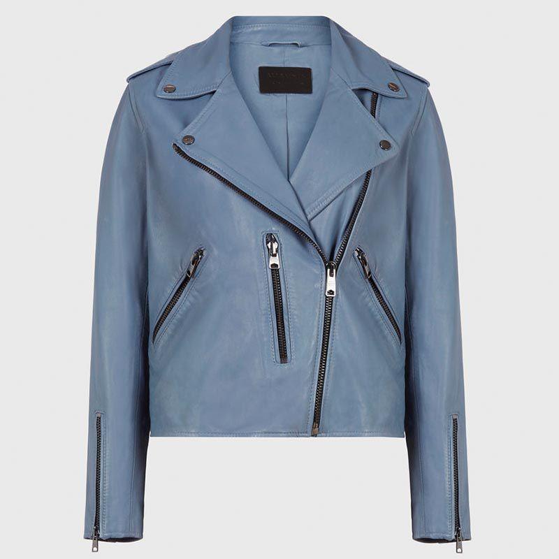 Fern Leather Biker Jacket