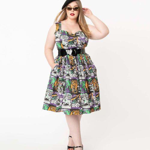 Plus Size 1950s Be Afraid Swing Dress ($88)