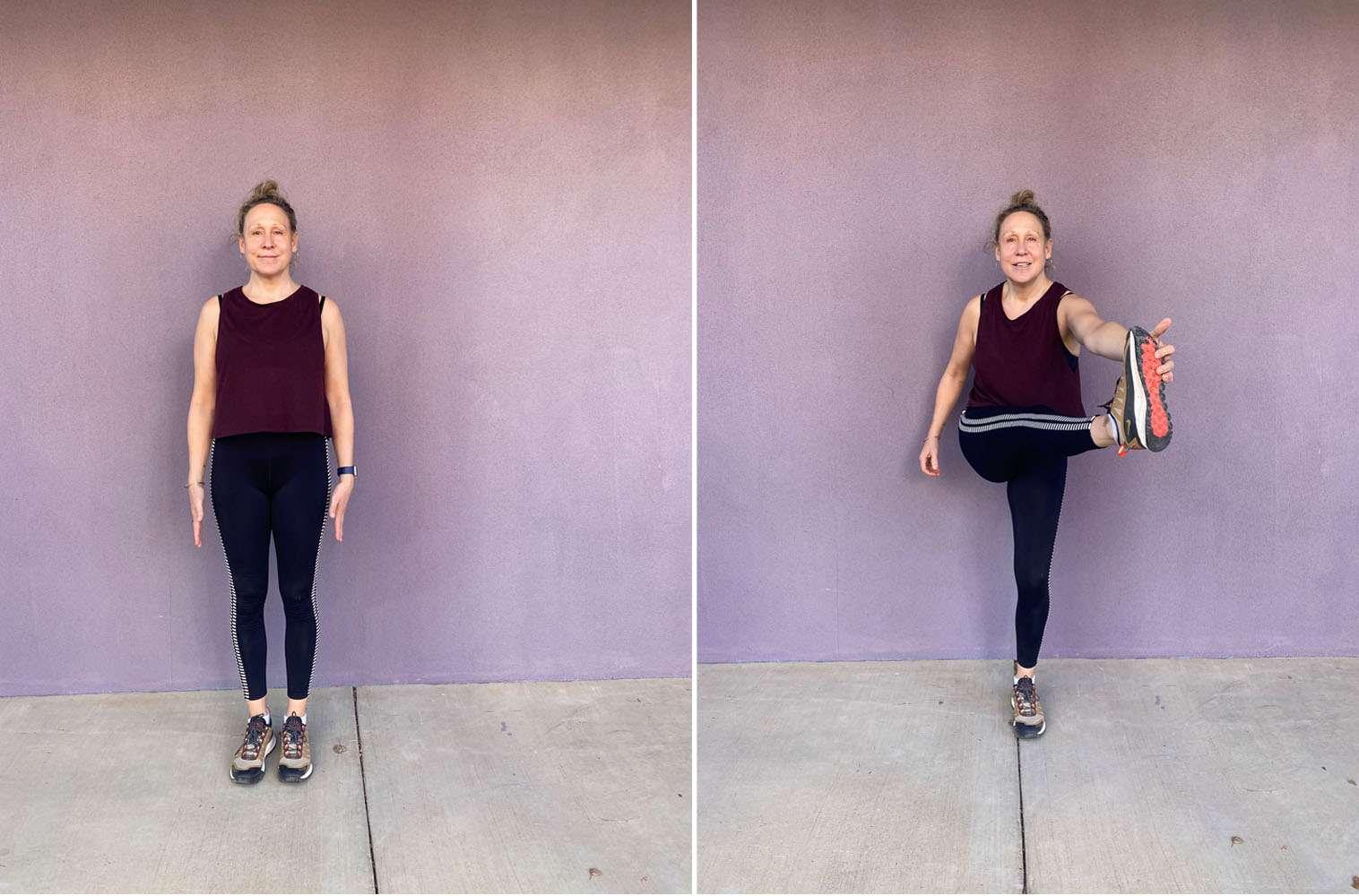 cross body, long leg lift ab exercise