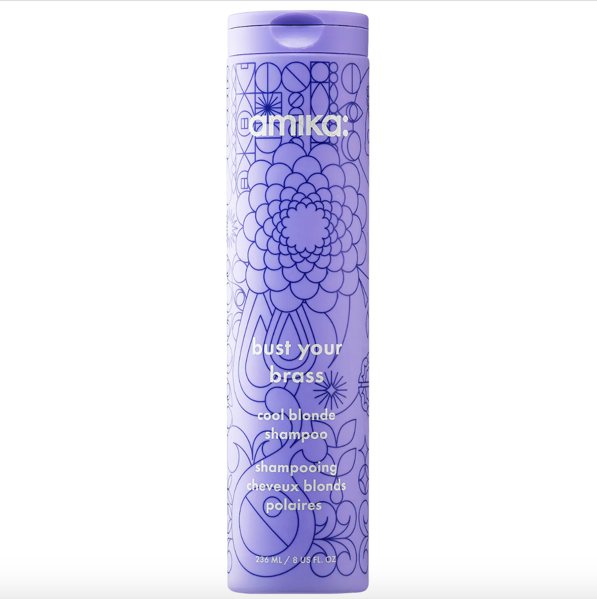 Amika Bust Your Brass Cool Blonde Purple Shampoo