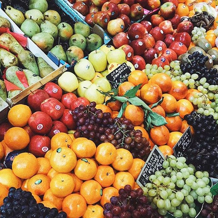 assortment of fruits on fruit stand