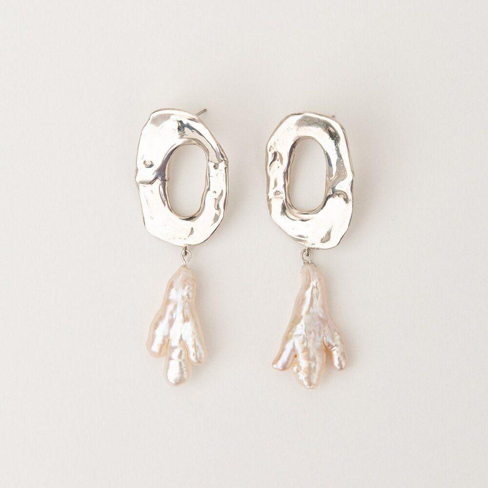 Carolina de Barros Aqua Earrings