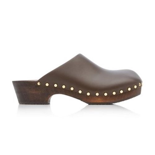 Khaite Lucca Leather Clogs