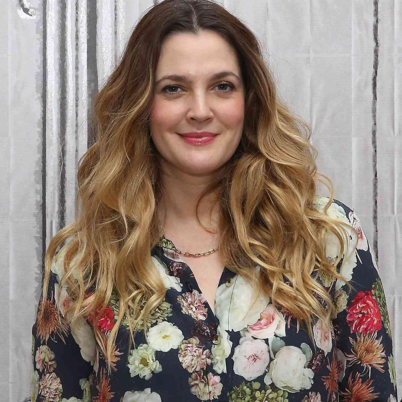 Drew Barrymore in floral top
