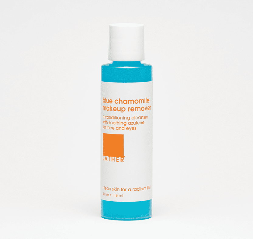 Lather blue chamomile makeup remover