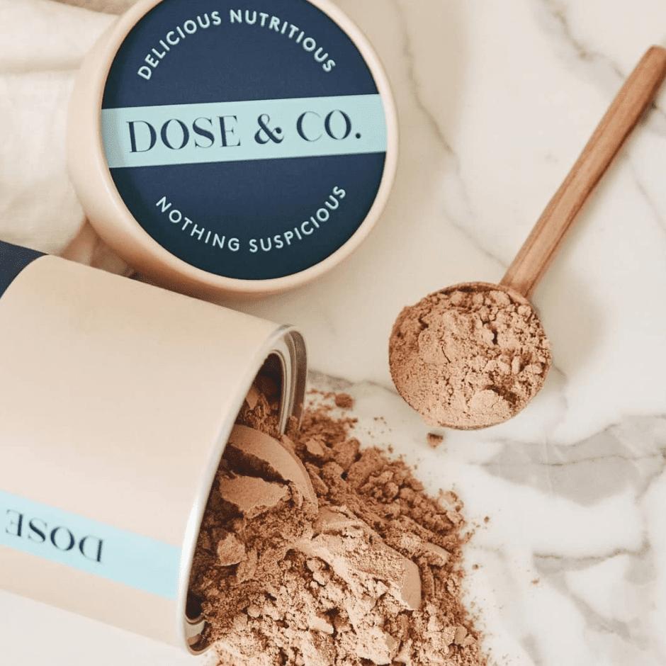dose & co chocolate fudge collagen