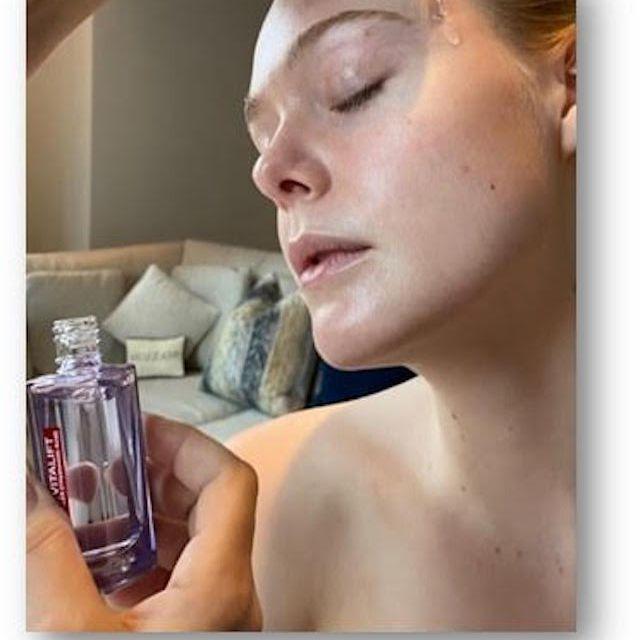 Elle Fanning skincare prep