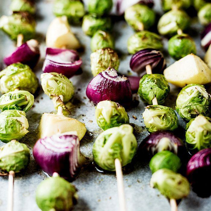 Vegetables on a skewer