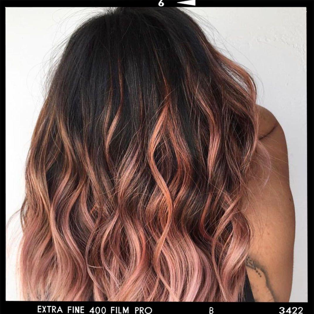 12 Stunning Rose Gold Balayage Hair Examples