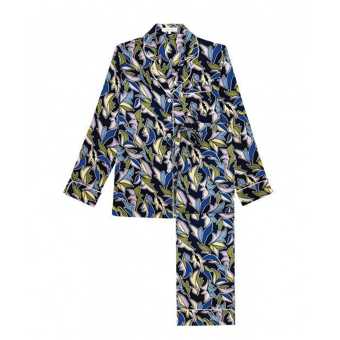 Olivia von Halle Lila Viola Silk Pyjama