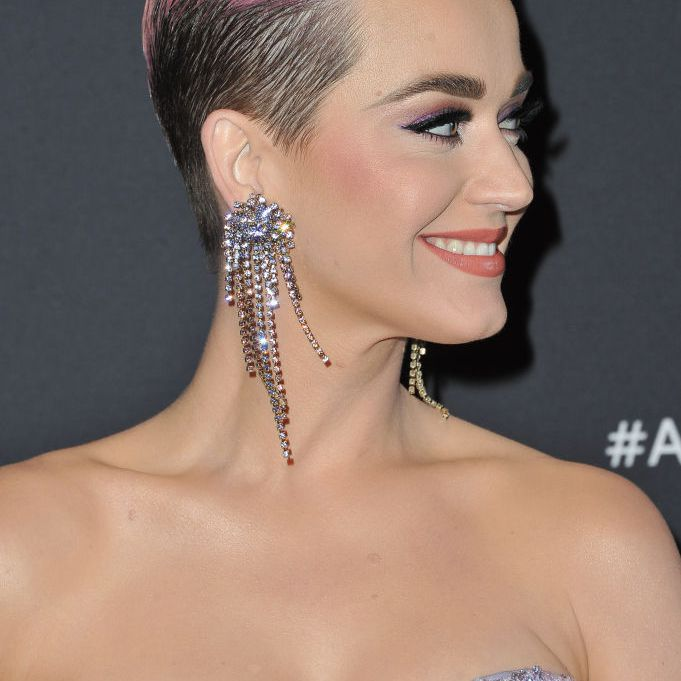 Katy Perry with a pink pixie