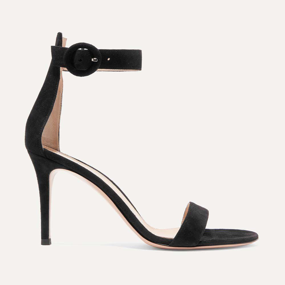Black Portofino 85 Suede Sandals