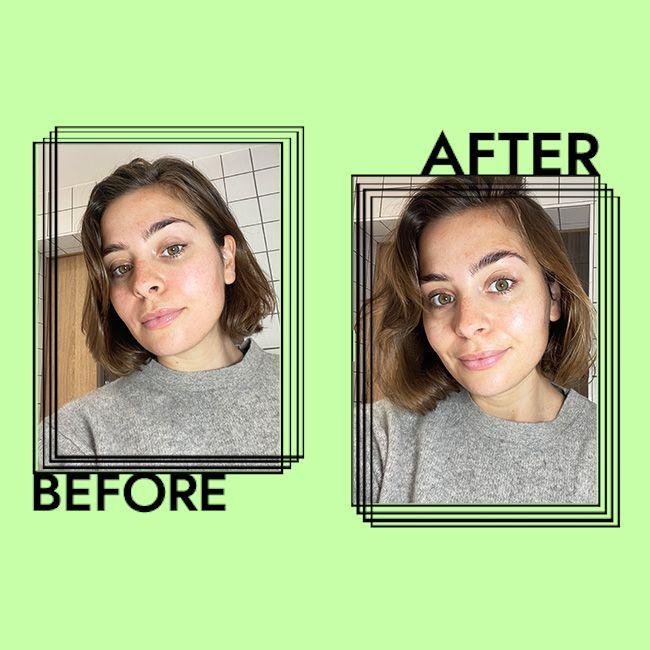 Innisfree Green Tea Seed Serum Results on Emily Algar