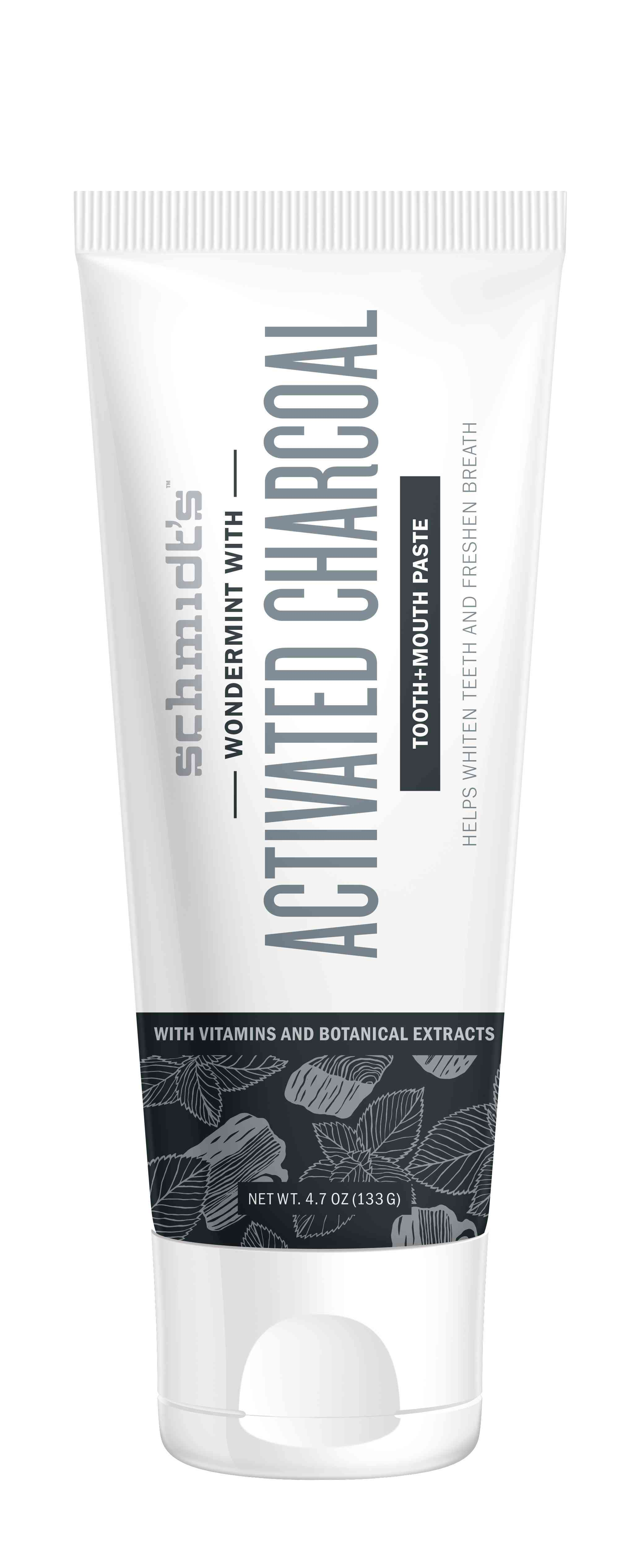 Schmidt's Activated Charcoal with Wondermint Toothpaste
