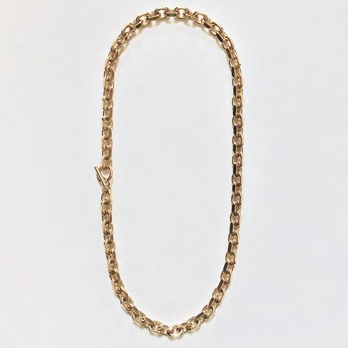 Filed Rolo Chain Strand Necklace ($120)