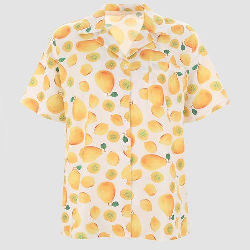 Fruits Lapel Loose Shirt ($18)