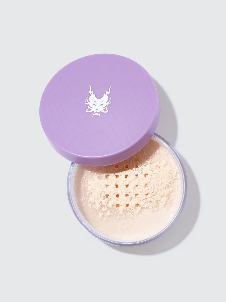 lavender tub of powder