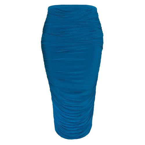 LaQuan Smith Ruched Maxi Skirt
