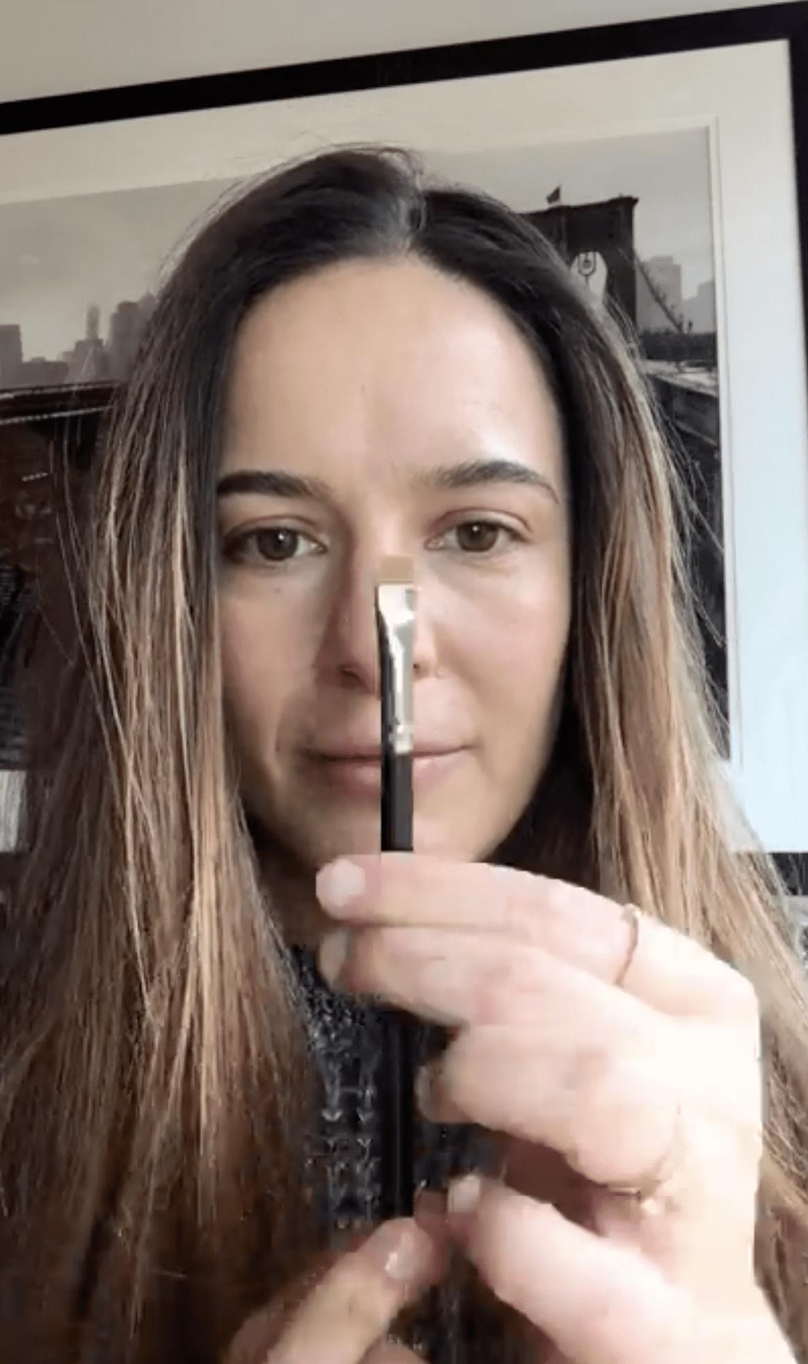 Makeup Artist Jenna Menard With Precision Brush