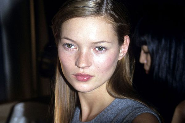 a young Kate Moss